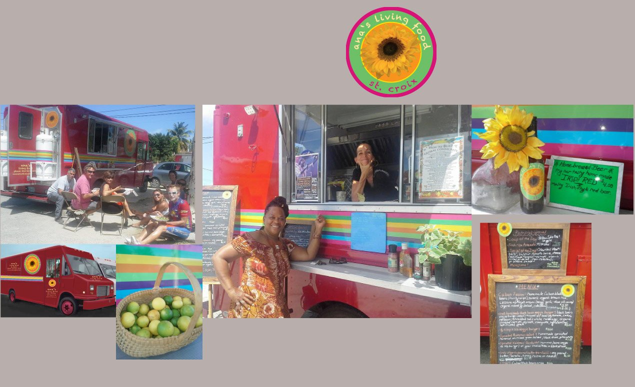 Foodtruck ana's living food st croix healthy food love and peace